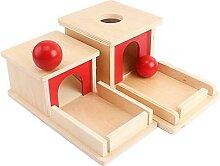 Montessori objet Permanence boîte avec plateau en