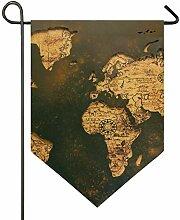 MONTOJ Carte du Monde Ancienne Motif Maison Sweet