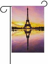 MONTOJ Drapeau de la Tour Eiffel avec Double Face