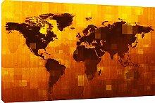 MOOL Toile Murale Motif Carte du Monde numérique
