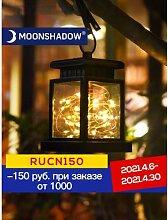 MOONSHADOW – lampe solaire carrée, éclairage