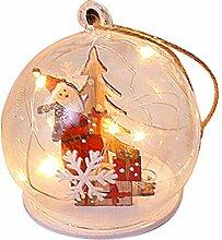 Moonvvin Boule de Noël en verre transparent -