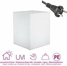 moovere Cube lumineux décoratif E27, 7W, blanc