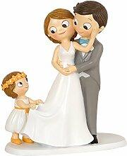 Mopec Figurine gâteau Couples et Fille 8,6 x 18,8