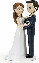 Mopec Figurine gâteau mariés partageant de la
