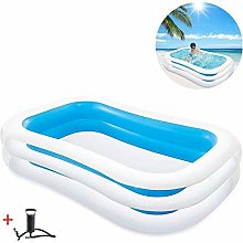 Mopoq Pagayer gonflable Piscine rectangulaire,