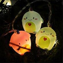 MoreLucky Guirlande lumineuse LED à piles pour