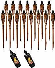Moritz Lot de 15 torches en bambou de luxe 60 cm