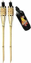 Moritz Lot de 2 torches en bambou - 90 cm -