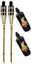 Moritz Lot de 2 torches en bambou 90 cm Standard