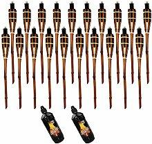 Moritz Lot de 20 torches en bambou - 60 cm -