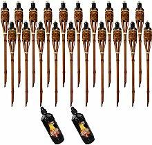 Moritz Lot de 20 torches en bambou de luxe 60 cm