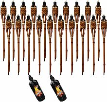 Moritz Lot de 20 torches en bambou de luxe 90 cm