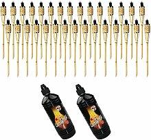 Moritz Lot de 30 torches en bambou 60 cm Standard