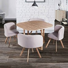 MOSAIC - Table Mosaic + 4 chaises beige