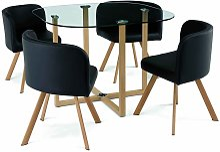 MOSAIC - Table Mosaic + 4 chaises noir
