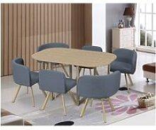 Mosaic xl - ensemble table + 6 chaises