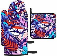 Motif floral coloré sans couture avec gants et