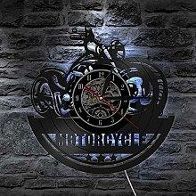 Moto CD Vinyl Record Horloge Murale Moto Garage