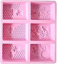 Moule 3D en silicone pour chocolat, savon,