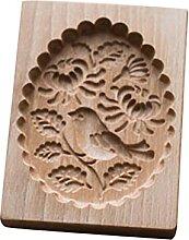 Moule à biscuit en bois sculpté pour pain