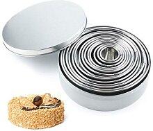 Moule à biscuits circulaire en acier inoxydable,
