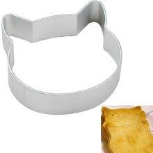 Moule à biscuits en forme de chat, en alliage
