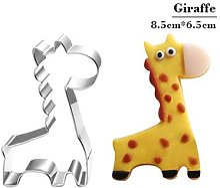 Moule à biscuits en forme de girafe, ustensiles