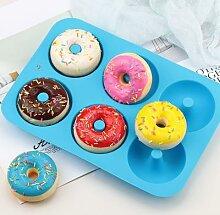 Moule à donuts antiadhésif en Silicone, 6