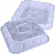 Moule à gâteau 3D blanc laiteux Moule à mousse