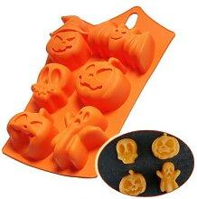 Moule à gâteau 3D Halloween citrouille en