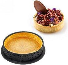 Moule à gâteau en cercle perforé antiadhésif,