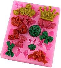 Moule à gâteau en silicone en forme de couronne