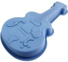 Moule a gateau en silicone guitare patisserie