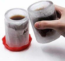 Moule à glace en forme de tasse en caoutchouc,