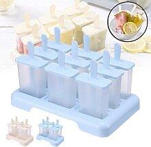 Moule à glace en Silicone à 4/9 cellules, bac à