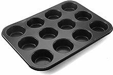 Moule à muffins anti-adhésif en acier au carbone