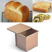 Moule à pain carré en alliage d'aluminium