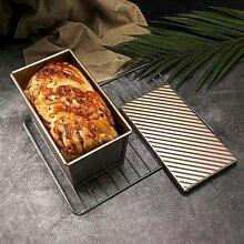 Moule à pain rectangulaire antiadhésif en acier