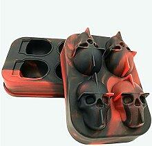 Moule à pouding plateau à glaçons 3D crâne