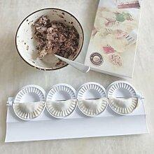 Moule à raviolis chinois, 4 pièces, ustensile de