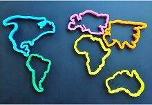 Moule de découpe de carte du monde, coupe-argile