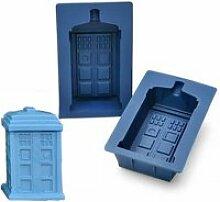 Moule,Doctor Who Tardis bacs à glaçons dr Who