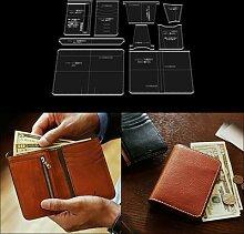 Moule en forme de portefeuille, modèle acrylique,