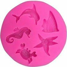 Moule,Moule en silicone dauphins hippocampe