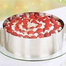 Moule réglable de Gâteau en Inox Rond