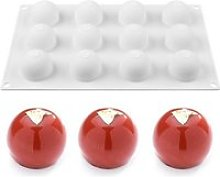 Moule silicone 12 boules billes rond sphère 3D