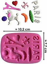 Moule silicone 3D Paris pour pâte à sucre, cake