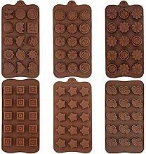 Moules à chocolat - WENTS Lot de 6 moules en