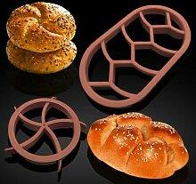 Moules à pain ovales circulaires,